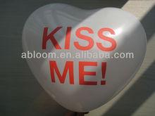 "3g 10"" white Latex Balloon with heart shape"