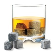 whiskey Chilling Rocks 100% Pure Soapstone cubes