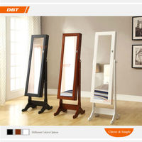 Korean MDF&cute white black cheap Affordable bedroom furniture sets Jewelry Cabinet Mirrors