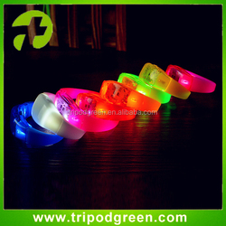 Cheap led running silicone bracelet for runner,glowing in the dark