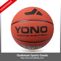 2015 Durable indoor 8 panels high school 7# pu material basketball