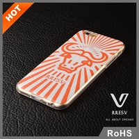 Stylish customized logo transparent IML-3D technology transparent fancy sublimation cell phone cases for iphone 6 plus
