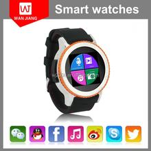 Android 4.4 waterproof dual core single sim smart watch phone 3g gps wrist watch phone