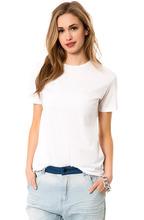 Blank pure white slim wome tshirt