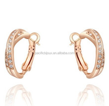 yellow gold hoop clip earring jewels
