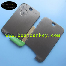 Smart key blanks wholesale with 433 mhz for renault scenic key card laguna 2 button