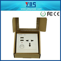 import china products usb triple socket uk/eu/us wall outlet