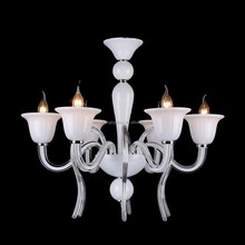 White crystal chandelier lighting contemporary european style