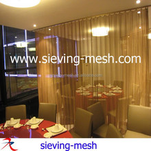 Luxury screen partition metal room dividers/ hotel lobby room divider screen