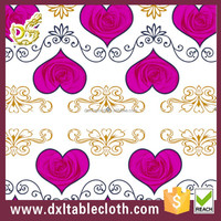 Beige transparent pvc with golden gem transfer tablecloth