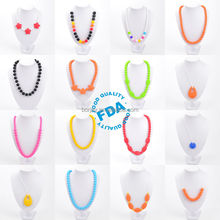 BPA Free Silicone Teething Necklace For Baby