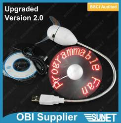 2015 new inventions LED self-programmable new usb fan