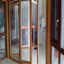 Alibaba golden supplier for 20 years china bi-fold wooden door with high quality factory price