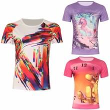 custom fashion new design print fancy ladies t-shirt wholesale