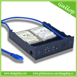 USB 3.0 Front Panel Hub with HDD bracket function 5.25''