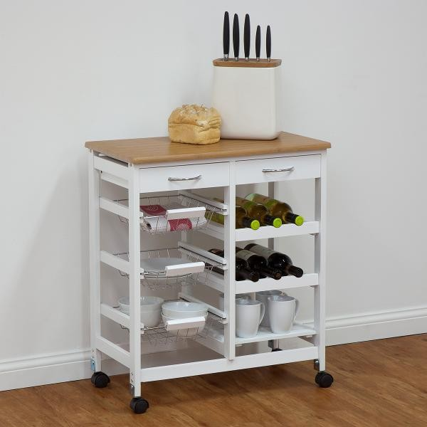 Foldable Wooden Kitchen Trolley Prices Stainless Steel
