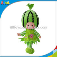 A494399 13 Inch Watermelon Fruit Singing Doll Christmas Gift Dolls