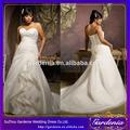 desconto 2014 modesto v- pescoço querida straplessruffled apliques de renda longos plus size vestido de casamento( wd-003)