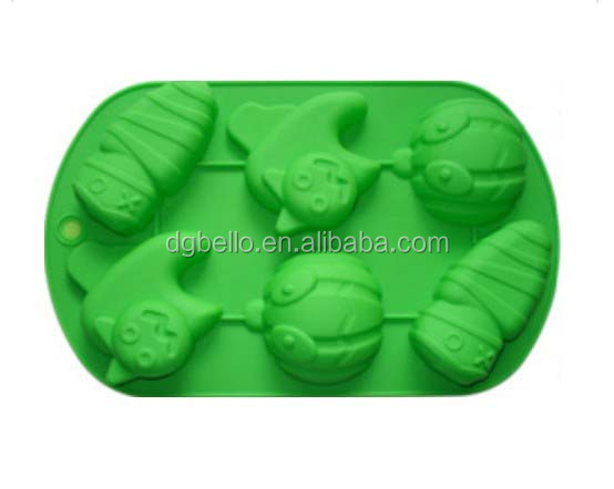 silicone Halloween cake molds angry pumpkin lantern and zombie shape bake mold