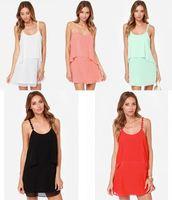 Best Sale Women Casual Strap Sleeveless U-neck Backless Party Dress Summer 2015 SV018521
