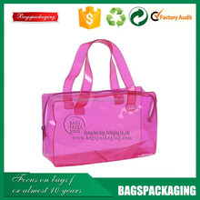 shopping cosmetics clear pvc handbags