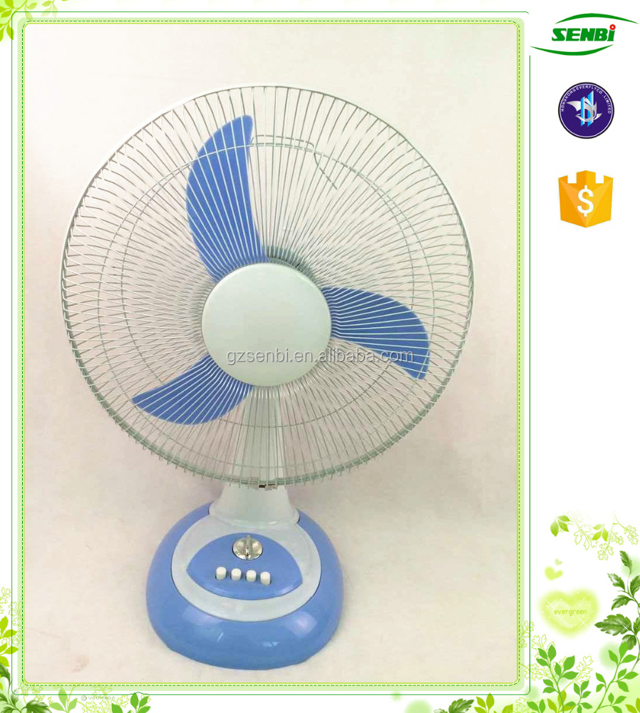 With 60 minute 16 inch air cooler electric solar table fan for 12v dc table fan price