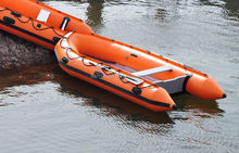 Liya 5.5m korea pvc inflatable rubber boat aluminum boats for sale