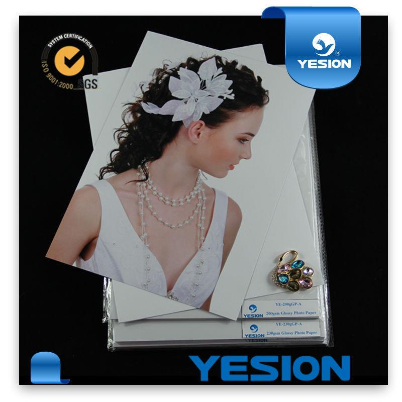 300gsm papel fotográfico de inyección de tinta de doble cara brillante de buena calidad para el libro de fotos