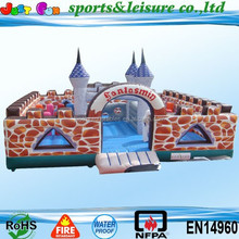 2015 hot sale giant spotted inflatable fun city, inflatable playground for sale, cheapest fun city for kids