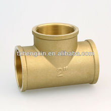 Low price brass Tee pipes fittings