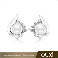 OUXI china wholesale south sea top designs pearl earing