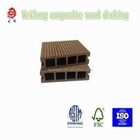 X08064 bamboo plastic composite extruded landscaping decking