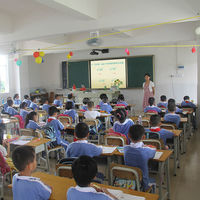 Demonstration interactive board in a whole classroom touch screen smart electronic whiteboard for kids learning