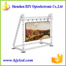 Super thin p16 outdoor large led moved sign led tv screen
