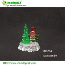 Best selling products acrylic Christmas tree craft, Christmas art craft with led light