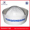Sombrero de marinero blanco para el partido con diseño personalizado bordado en ala