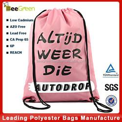 210D Polyester cheap Drawstring Backpack, wholesale drawstring bags