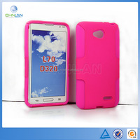High quality PC Siliconen Skin Dream Mesh Design Protection Combo Case For LG L70 D320