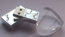 New- crystal USB flash drive, crystal memory drive, USB flash drive wholesale