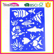 HOT sell kids PP plastic stencil