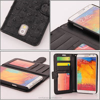 2015 New grip wallet style new design wallet leather mobile phone case with card slots