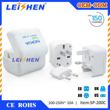 Leishen Brand Use full copper/new material PC made 12v adapter socket for business gifts