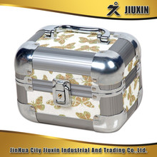 Mini aluminium multi-functional cosmetic case, delicate and practical jewelry case with lock, beautiful storage case