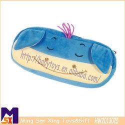 blue soft plush pencil case lovely cartoon pencil box 2013 new pencil box for kids