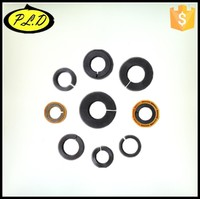 Excavator bucket tooth pin lock and washer