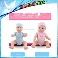 2015 New Vinyl & Silicone Cute Super Simulation Baby Doll Lifelike Reborn Baby 17 inches doll