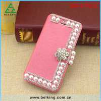 Luxury Women PU Silk Flip Leather Covers Case For iPhone 6 6 Plus Stander Wallet Card Slot Case