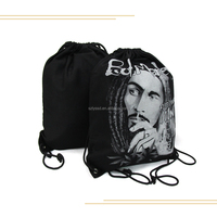 Custom Cotton Canvas Drawstring Backpack,Recycle Black Canvas Drawstring Shoulder Bag