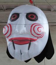 inflatable Hallowmas clown mask