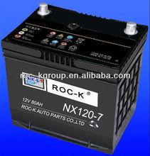 Maintenance free starting Automotive battery NX120-7